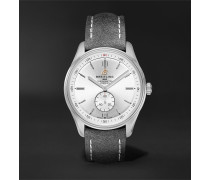 Premier Automatic 40mm Stainless Steel and Nubuck Watch, Ref. No. A37340351G1X1