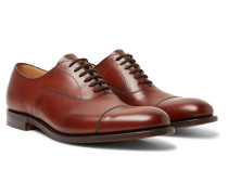 Dubai Polished-leather Oxford Shoes - Brown