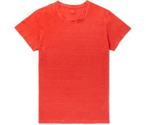 Slim-Fit Garment-Dyed Linen T-Shirt