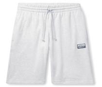 Mélange Loopback Cotton-Jersey Drawstring Shorts