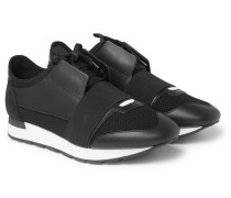 Race Runner Leather, Neoprene, Suede And Mesh Sneakers