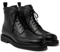 Jacques Full-Grain Leather Brogue Boots