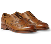 Stanley Leather Wingtip Brogues - Tan