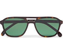 Alder Aviator-Style Tortoiseshell Acetate Sunglasses