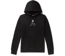 Oversized Glittered Logo-Print Loopback Cotton-Jersey Hoodie