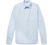 Cotton-poplin Half-placket Shirt