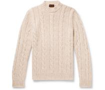 Cable-knit Sweater - Cream