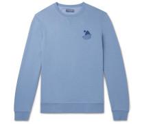 Carioca Surf Club Printed Cotton-blend Jersey Sweatshirt - Blue
