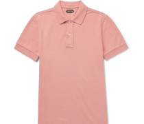 Garment-dyed Cotton-piqué Polo Shirt - Pink