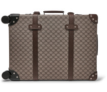 + Globe-trotter Leather-trimmed Monogrammed Coated-canvas Carry-on Suitcase - Beige