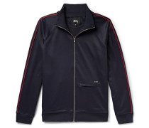 Piped Jersey Track Jacket - Navy