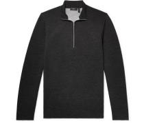 Slim-fit Merino Wool-blend Half-zip Sweater