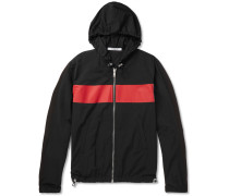 Logo-print Colour-block Shell Hooded Jacket