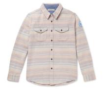 Striped Organic Cotton-Jacquard Overshirt