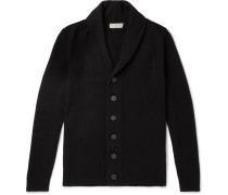 Patterson Shawl-collar Wool And Cashmere-blend Cardigan - Black
