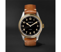 1858 Automatic 40mm Stainless Steel, Bronze and Leather Watch, Ref. No. 117833