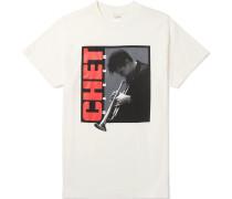 + Chet Baker Printed Cotton-jersey T-shirt