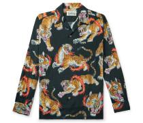 + Tim Lehi Printed Camp-Collar Lyocell Shirt