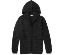 Wool-blend Bouclé Hoodie - Black