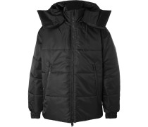 Oversized Reversible Logo-detailed Quilted Shell Jacket