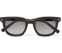 Square-frame Acetate Sunglasses - Black