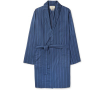 Medway Striped Organic Cotton Robe - Blue