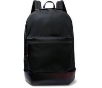 Volume Mm Venezia Leather-trimmed Nylon Backpack - Black