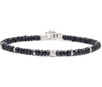 Nodo Rhodium-plated Sapphire Bracelet - Blue