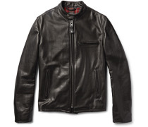 Perfecto 530 Slim-fit Leather Café Racer Jacket - Black