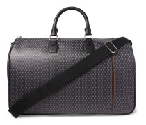 Leather-Trimmed Printed Coated-Canvas Holdall
