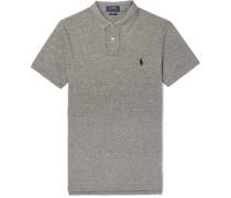 Slim-fit Mélange Cotton-piqué Polo Shirt