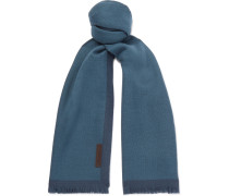 Fringed Two-tone Wool Scarf
