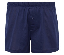 Sporty Mercerised Cotton Boxer Shorts - Navy