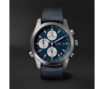 Alt1-zt Automatic Chronograph 43mm Stainless Steel And Leather Watch - Blue