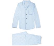 Nelson Cotton-jacquard Pyjama Set