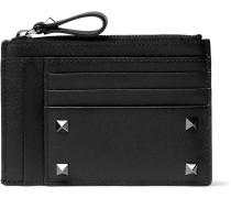 Valentino Garavani Rockstud Leather Zipped Cardholder