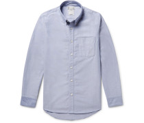 Albacore Button-down Collar Flannel-panelled Cotton Oxford Shirt