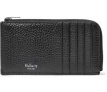 Full-grain Leather Zip-around Cardholder - Black