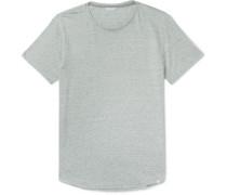 OB-T Slim-Fit Striped Linen-Jersey T-Shirt