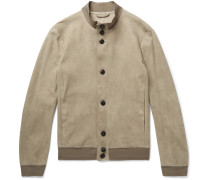 Unlined Suede Jacket - Beige