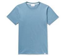 Niels Standard Cotton-jersey T-shirt - Light blue
