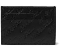 Logo-debossed Leather Cardholder - Black