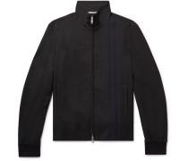 Slim-fit Striped Wool-blend Track Jacket
