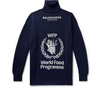 + The World Food Programme Oversized Logo-intarsia Virgin Wool Rollneck Sweater - Storm blue