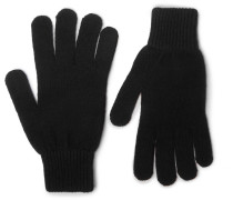 Cashmere And Wool-blend Gloves - Black