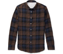 Checked Stretch-cotton Shirt