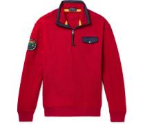 Fleece Half-zip Sweatshirt - Red
