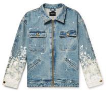 Oversized Painted Selvedge Denim Jacket