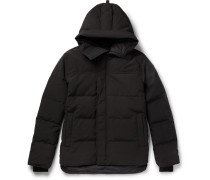 Macmillan Quilted Shell Hooded Down Parka - Black