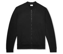 Loopback Stretch-cotton Jersey Bomber Jacket